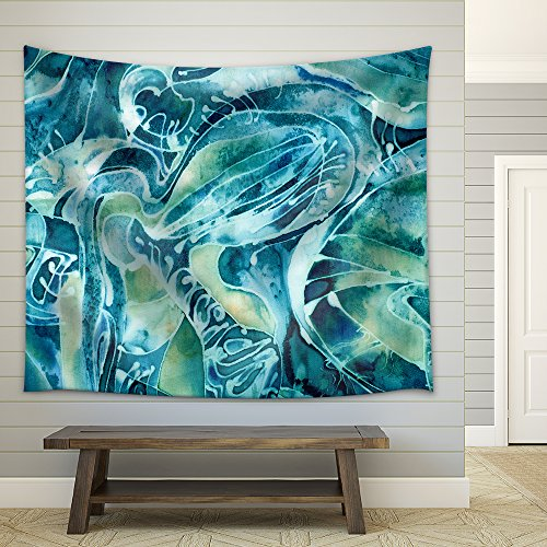 Abstract Background on the Sea Water Fabric Wall