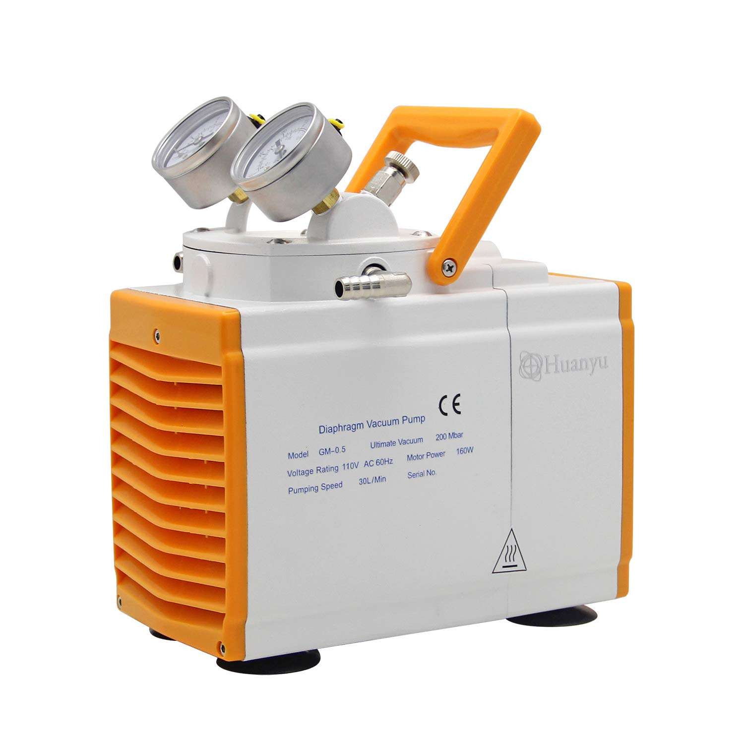 Huanyu Oilless Diaphragm Vacuum Pump Oil Free Anticorrosive Pump 30L/min Lab R&D for Filtration Extraction Apsorption 110V(Anticorrosive Type, GM-0.5A(Single Pump)): Industrial & Scientific