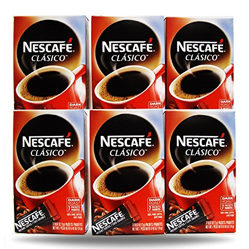 Nescafe Instant Coffee, 42 Packets (Clasico)