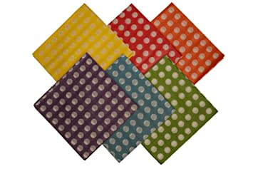 premium colored polkadot tissue paper 100 sheets