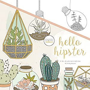 kaisercolour perfect bound coloring book hello hipster - Hipster Coloring Book