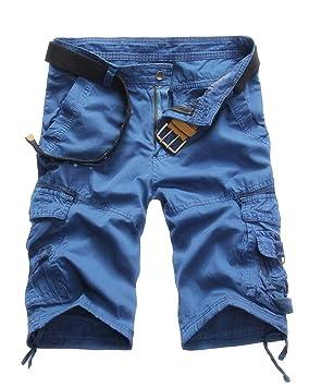 Guiran Hombre Pantalones Cortos Militar Cargo Casual Camuflaje Bermuda  Deporte Multi Bolsillos Shorts (Sin Cinturón)  Amazon.es  Deportes y aire  libre 06ed5013eb9f