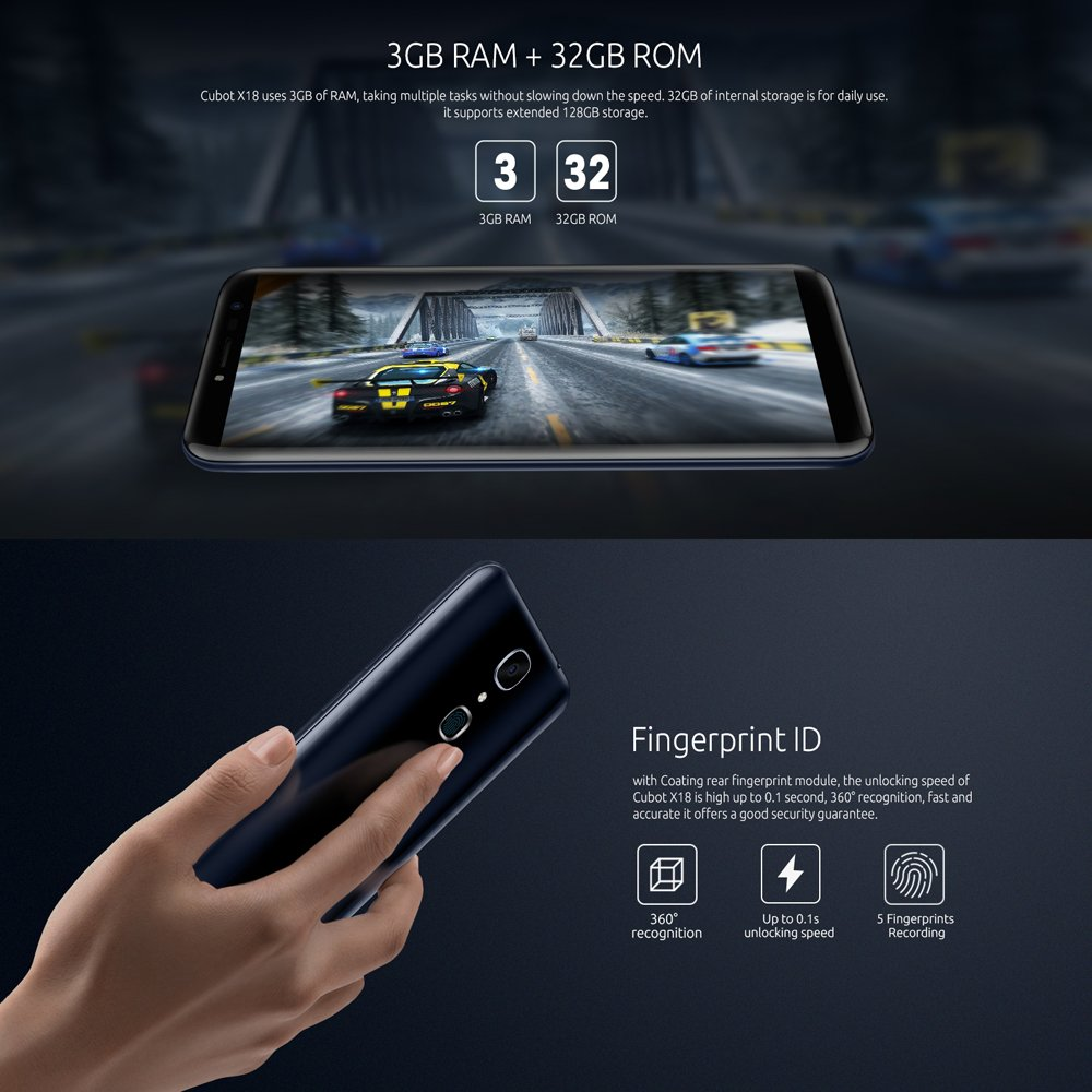 Cubot X18 4g Fdd Lte Smartphone 57 Zoll Android 70 Bestseller Xiaomi Redmi 4x Prime Ram 3gb Internal 32gb Elektronik