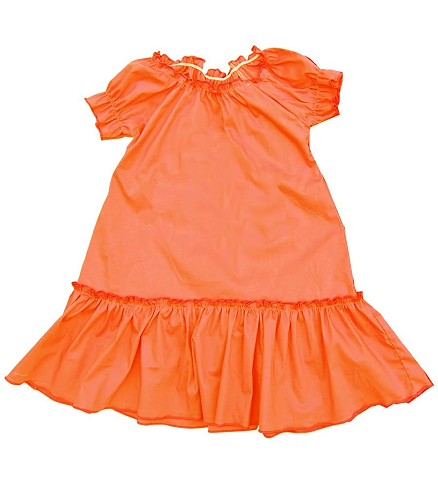 Cheeky Banana Baby//Toddler Girls Solid Color Peasant Dress Lime