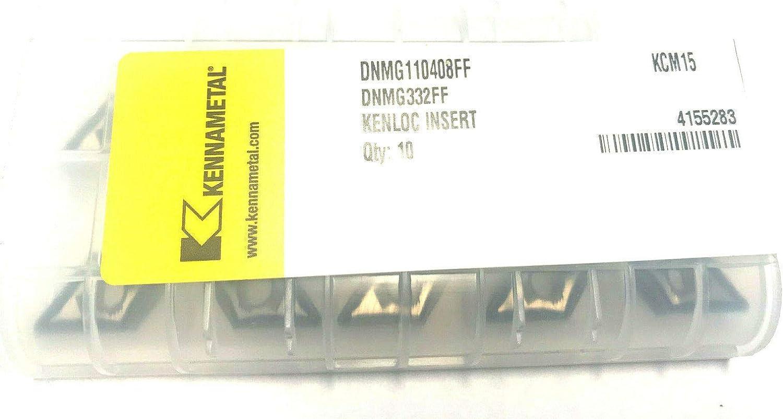 KENNAMETAL Lot de 10 plaques r/éversibles DNMG 110408 FF pour tourner