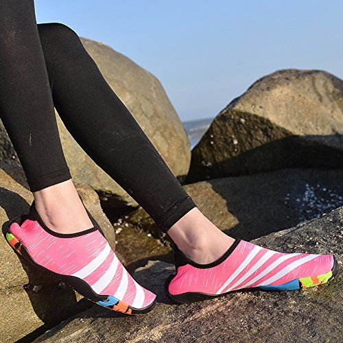 GOMNEAR Barefoot Water Shoes Quick Drying Aqua Sport Outdoor Lightweight For Women Men Unisex Pink CbUPAyAIVA