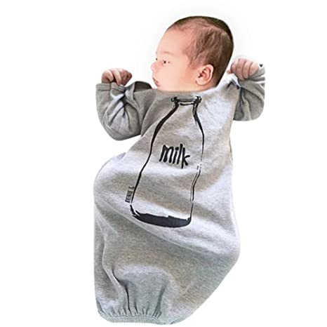 Domybest Niños Ropa Recién Nacido Bebé Saco de Dormir la Imagen de Botella de Leche