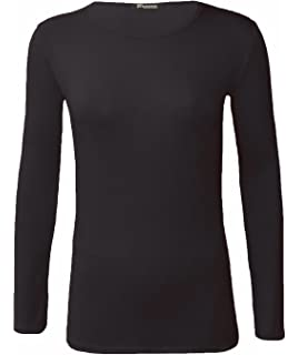 WearAll Ladies Long Sleeve T-Shirt Top Womens Plus Sizes  Amazon.co ... 7c8f11aab891