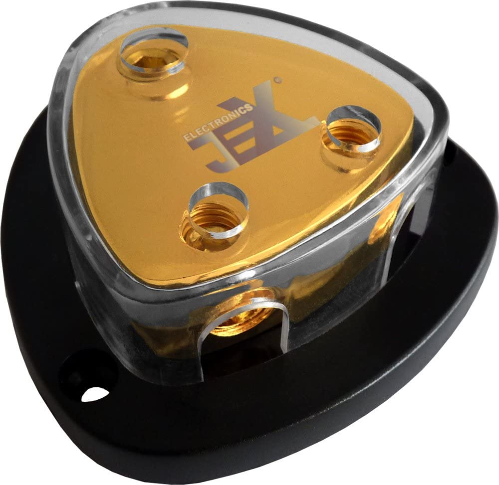 2-Way Car Audio Stereo Amp Power//Ground Cable Splitter Distribution Block 2ga