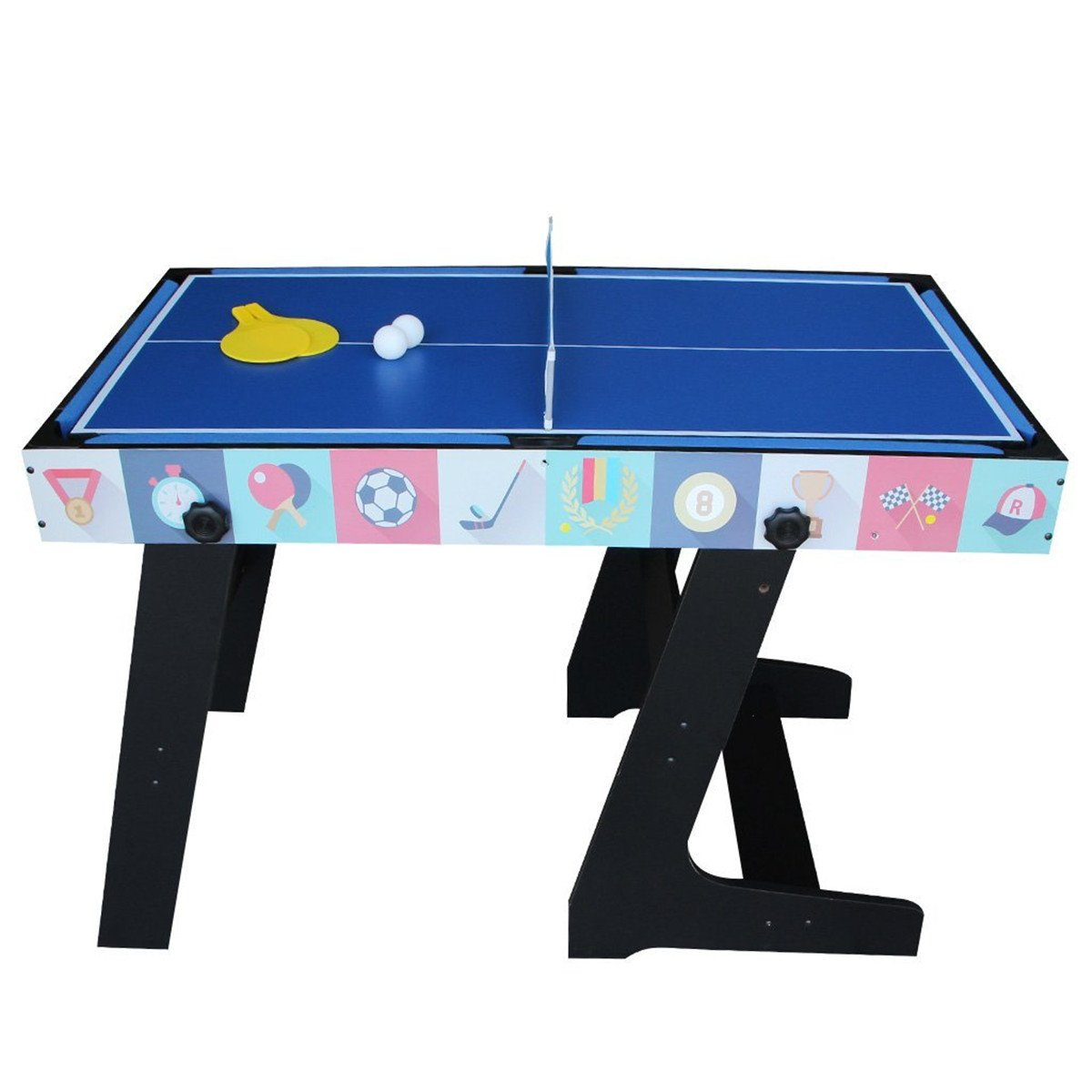 Deluxe 5 in 1 Top Game Table Folding Table-Table Tennis,Glide Hockey,Chess,Pool,Basketball Set by QYBK (Image #6)