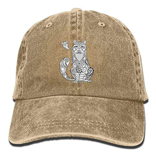 (James. A Retro Cats Summer Personalized Casual Plain Hats Cowboys Adult Baseball Cap Natural)