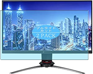 """[2 Pack] Synvy Anti Blue Light Screen Protector Compatible with Acer Predator XB273GXbmiiprzx 27"""" Display Monitor Screen Film Protective Protectors [Not Tempered Glass]"""