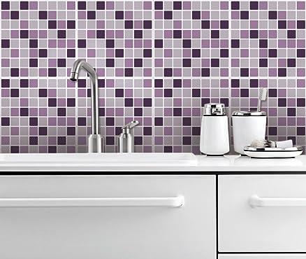 Adesivi Piastrelle Parete per Coprire Cucina Decorazione Mosaico ...