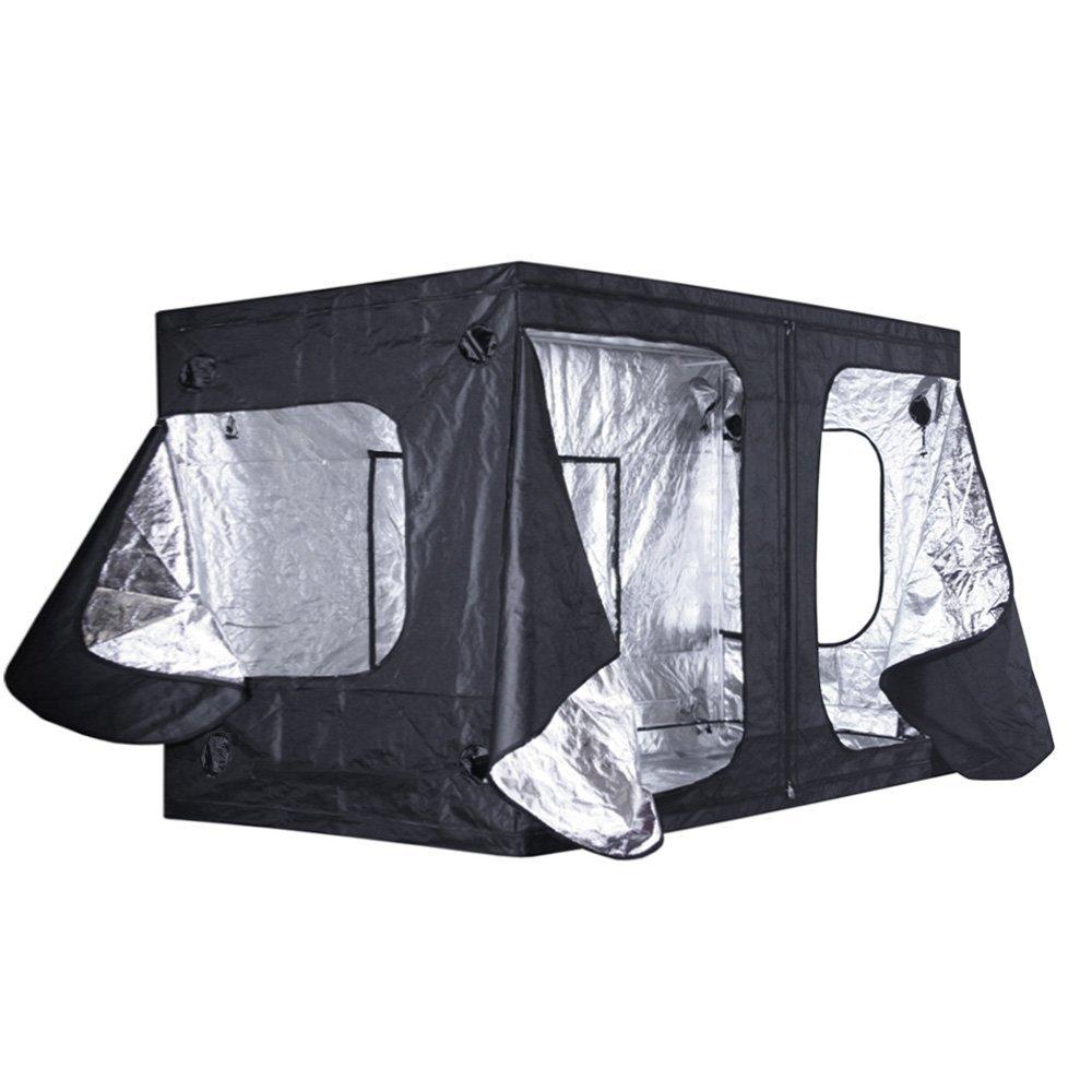 120''x120''x84'' Reflective Heavy Duty Mylar Hydroponics Grow Tent 10x10x7 GT-1010X