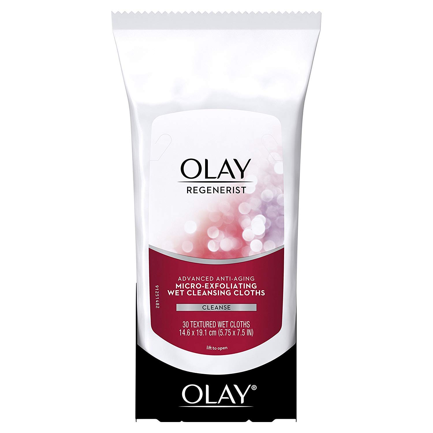 OLAY Regenerist Advanced Anti-Aging Micro-Exfoliating Cleansing Cloths 30 Each (Pack of 4)