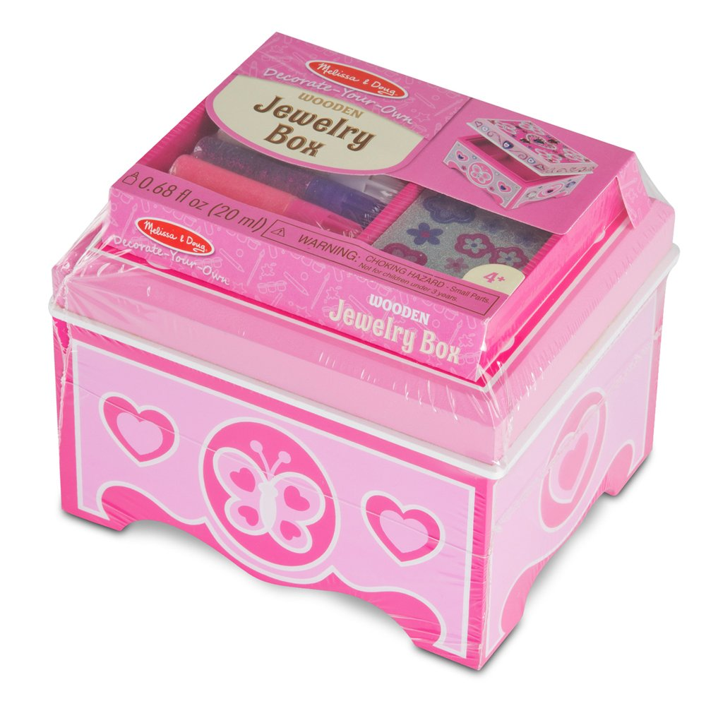 Melissa & Doug Decorate-Your-Own Wooden Jewelry Box Craft Kit by Melissa & Doug (Image #3)