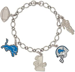 NFL Detroit Lions 47521091 Bracelet with Charms Clamshell