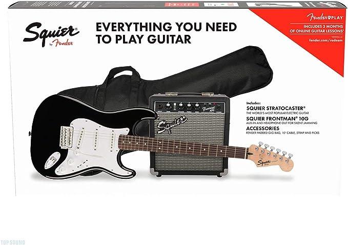 Fender Squier Stratocaster LRL Black + Frontman 10G + Funda + Accesorios: Amazon.es: Electrónica