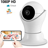 1080P Wireless Home Security IP Camera 360 Wifi Indoor Video Surveillance Network Baby Monitor for Puppy Nanny Cloud Cam Night Vision Motion Detector Pan Tilt with 2 Way Audio APP CCTV P2P Dome Webcam