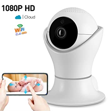 1080P Wireless Home Security IP Camera 360° Wifi Indoor Video Surveillance  System Network Baby Monitor for Puppy Nanny Cloud Cam Night Vision Motion