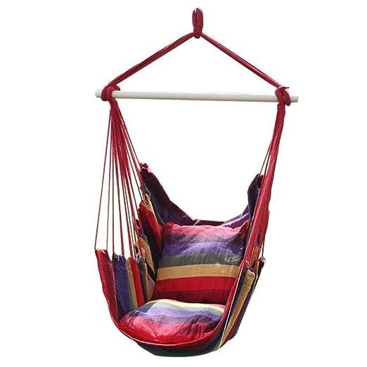 Amazon De Zum Aufhangen Hangematte Sessel Mit 2 Kissen Baumwolle