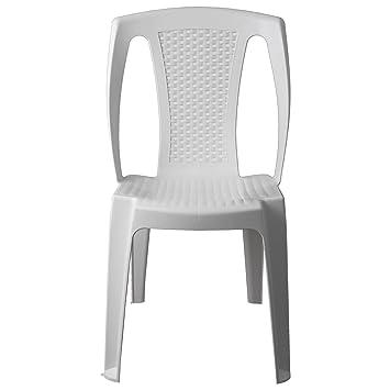 Silla de jardín con efecto de ratán, apilable, silla apilable silla ...