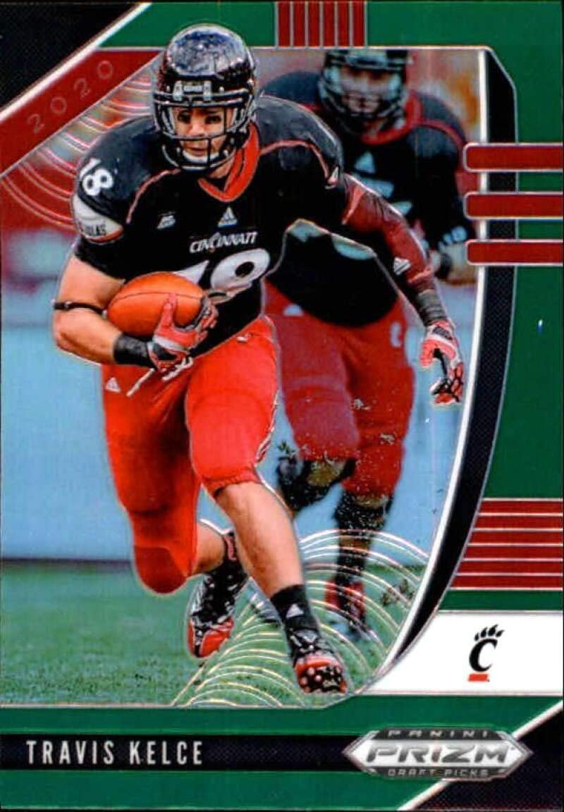 Amazon Com 2020 Panini Prizm Draft Prizms Green 99 Travis Kelce Cincinnati Bearcats Football Trading Card Collectibles Fine Art