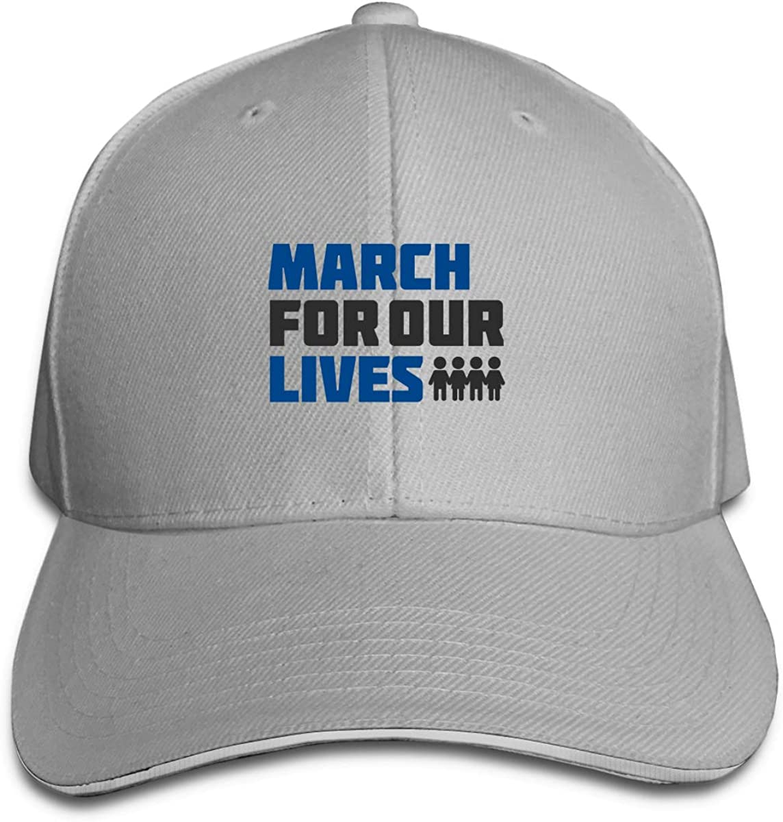 March for Our Lives Logo Classic Adjustable Cotton Baseball Caps Trucker Driver Hat Outdoor Cap Gray