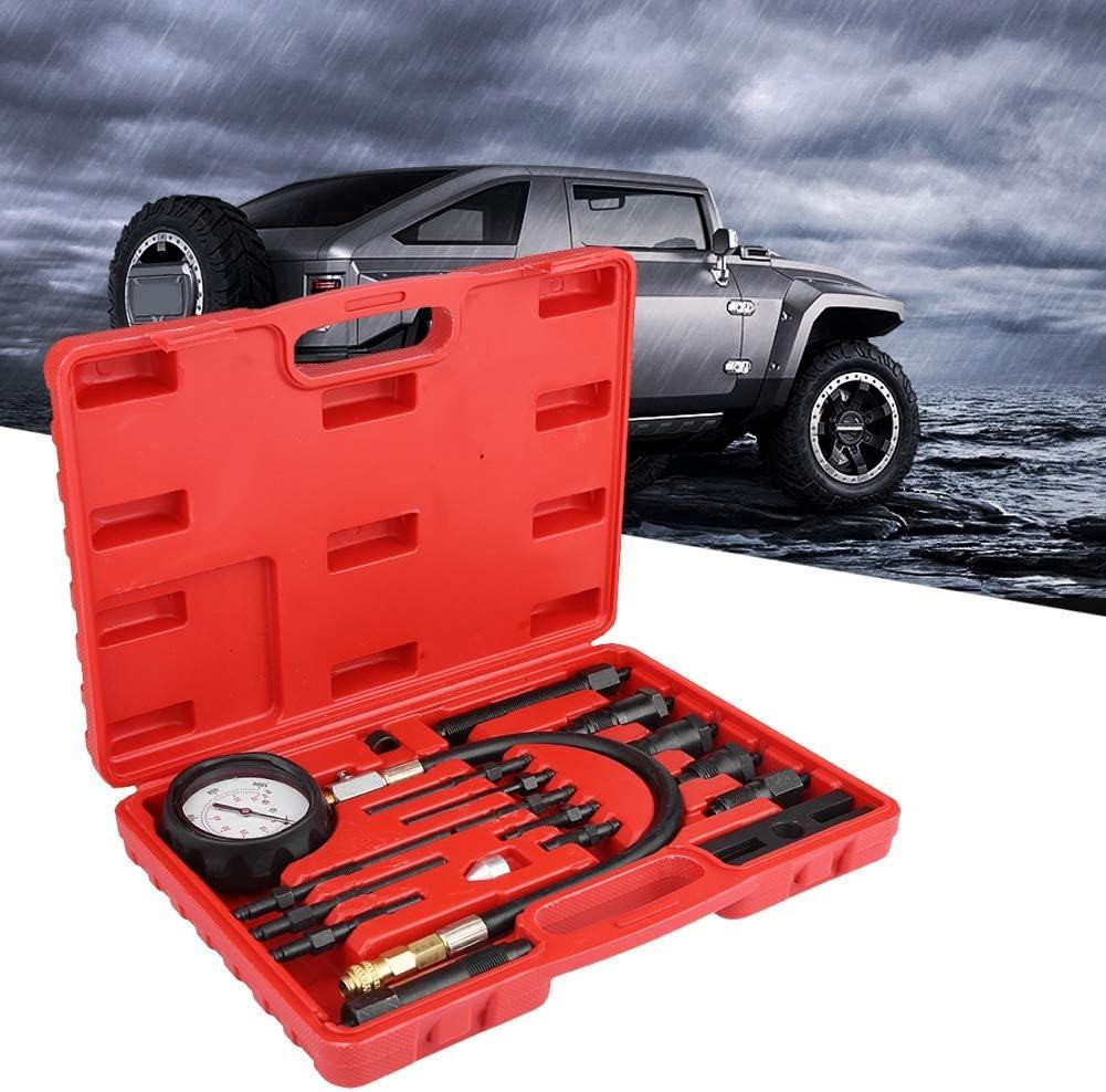 17 St/ücke Diesel TDI CDI Motorkompressionstester Diagnose Test Manometer Kit f/ür Auto Traktor Kompressionstester