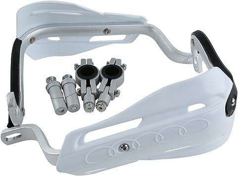 22m Universal Hand Guards Brush Bar Handguards Compatible with Honda Kawasaki Yamaha Suzuki Dirt Bike ATVs MX KTM XFMT Motorcycle White 7//8