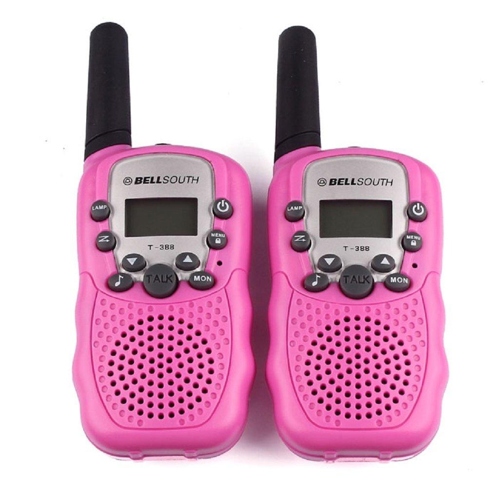 Coper 2pcs Portable Wireless Walkie-talkie Set Eight Channel 2 Way Radio Intercom 5KM Travel Hot Pink