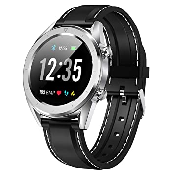 OJBDK Smart Watch Waterproof Mens Color Screen Blood Pressure Smartwatch Multi-Sport Fashion Pulse Meter EKG IP68 for iOS and Android-1.54 Inches