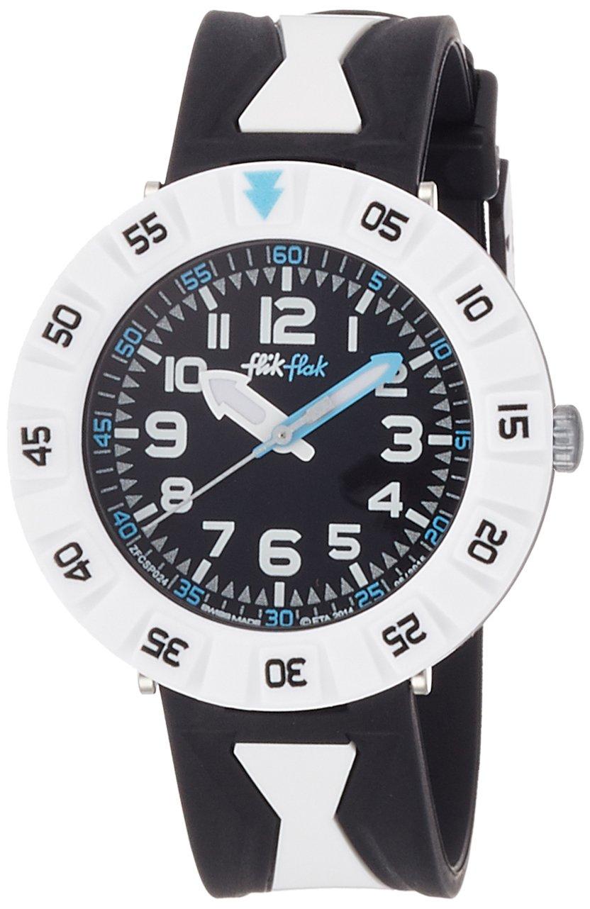Flik Flak Nerobi Black Dial Plastic Strap Boys Watch ZFCSP024