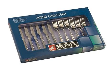 Monix Milán - Set de cubiertos 12 piezas, cubiertos de acero inox 18/10