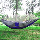 Portable Single-person Mosquito Net Hammock Hanging Bed for Travel Camping(Gray)