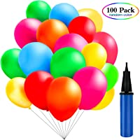 TedGem 100 Piezas Multicolores Globos con bomba