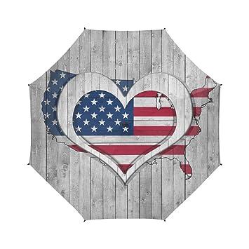 Artsadd Semiautomatic plegable paraguas el símbolo nacional americana águila patriótica diseño paraguas de viaje regalo