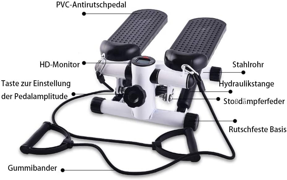 ZZZTWO Mini Swing Stepper mit Zugbändern - Mini Stepper