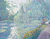 Bridge with Waterlilies (In the Style of Claude Monet)
