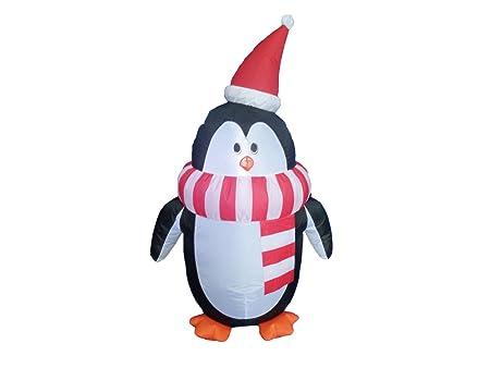showking Pingüino FROSTI con Bufanda y Gorro de Papá Noel ...