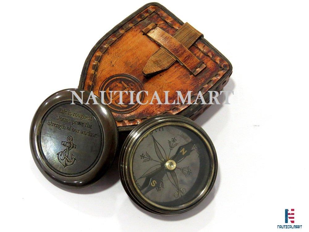NAUTICALMARTソリッド真鍮アンティークコンパス