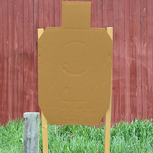 Collapsible Target Stand - IDPA Pro Kit - 20 Cardboard Targets, Collapsible Stand, Furring Strips, Pasters and Spikes