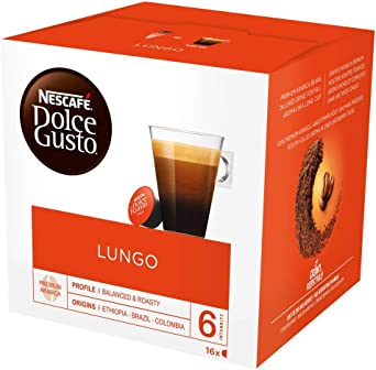 Nescafe Dolce Gusto Lungo Coffee Pods 16 Capsules Pack Of 3 Total 48 Capsules 48 Servings Amazon Co Uk Grocery