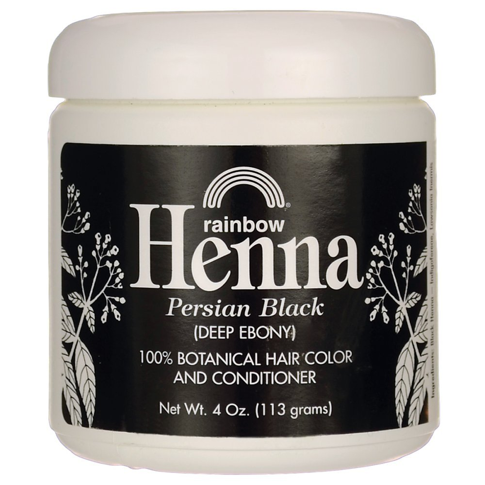 Rainbow Research Henna Hair Color and Conditioner Persian Black Deep Ebony - 4 oz UNFI - Select Nutrition
