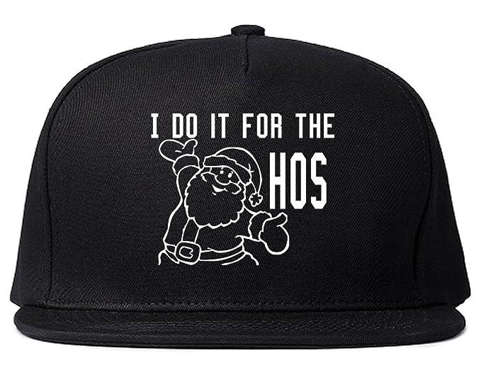 1492ebba69f Amazon.com  FASHIONISGREAT Do It For The Hos Christmas Santa Snapback Hat  Cap Black  Clothing