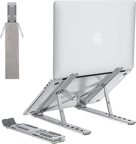 Portable Laptop Stand for Desk  OMOTON LA02 Adjustable Foldable Aluminum Laptop Stand Riser Compatible with MacBook Air Macbook Pro HP Dell Lenovo and at Kapruka Online for specialGifts