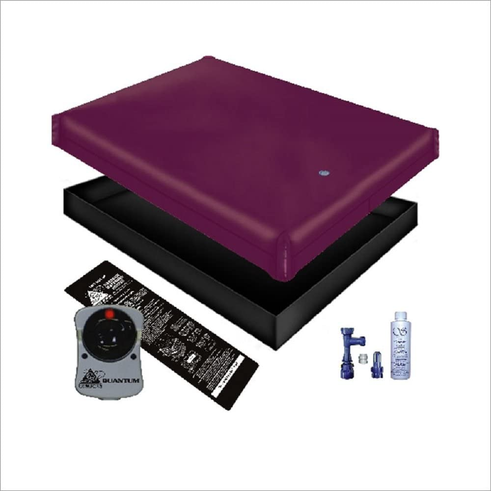 Free Flow WATERBED Mattress/Liner/Heater/Fill Drain/Conditioner KIT (California King 72x84 Good Bundle)