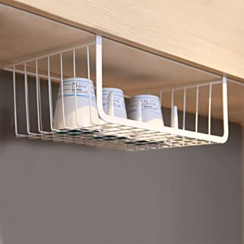 Charmant Moyad Under Shelf Basket Hanging Storage Wrap Rack Organizer For Kitchen  Cabinet Pantry Wardrobe Office Desk