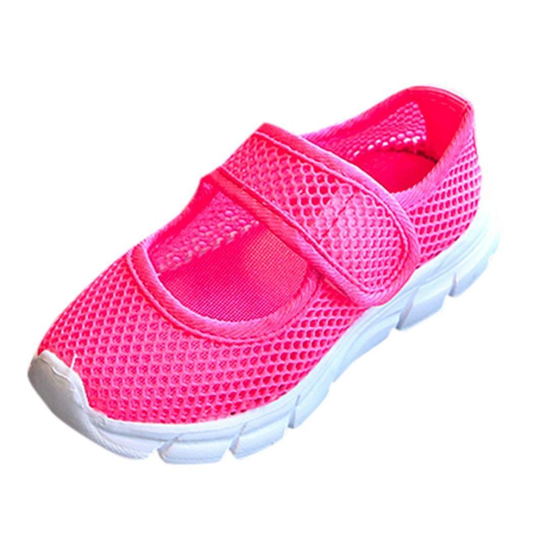 Beikoard Zapatos Zapatos para niños, Atletismo atlética,Los niños y Las niñas Zapatillas Transpirable Antideslizante de Malla Zapatos de Correr
