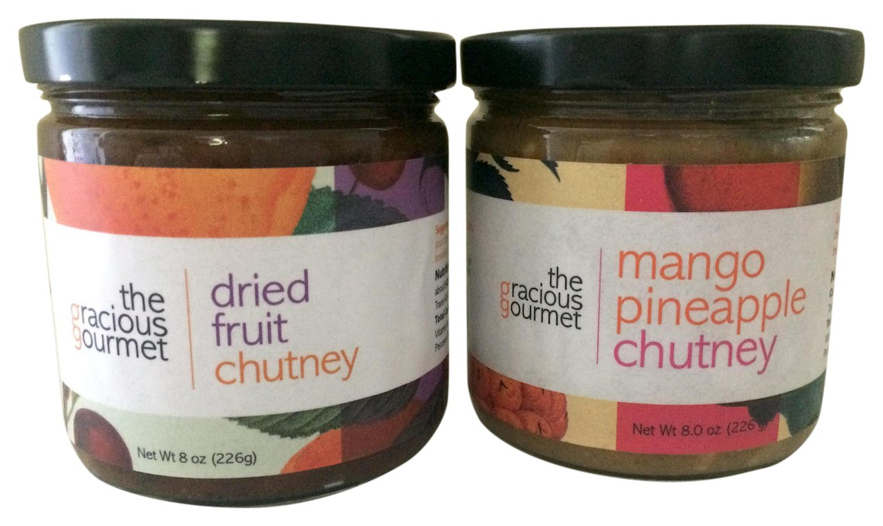 The Gracious Gourmet Dried Fruit Chutney/Mango Pineapple, 16 Ounce by The Gracious Gourmet